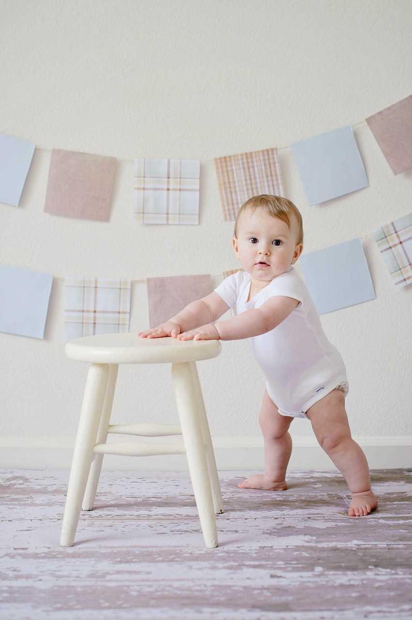 baby, cute, stool